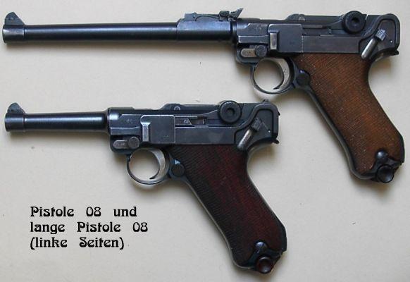 Datenblatt der Langen Pistole 08 - Geschichte