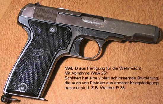Geschichte der Pistole MAB